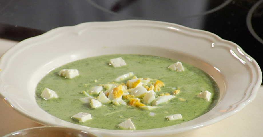 Суп с брынзой